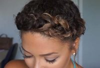 Short Curly Summer Hairstyles for Black Women with Braids
