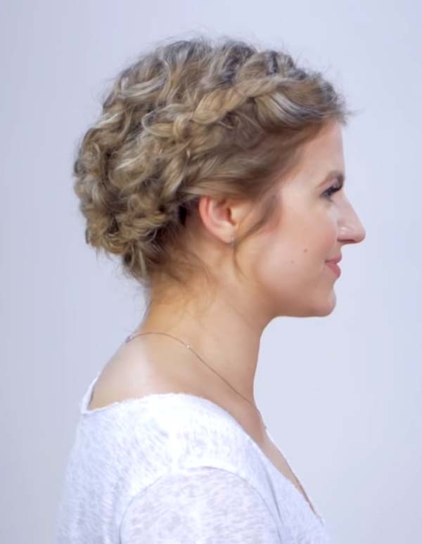 Short Curly Wedding Hairstyles 2020