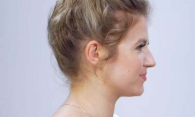 Short Curly Wedding Hairstyles with Updos