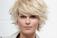 Short Flippy Hairstyles for Round Face with Bangs