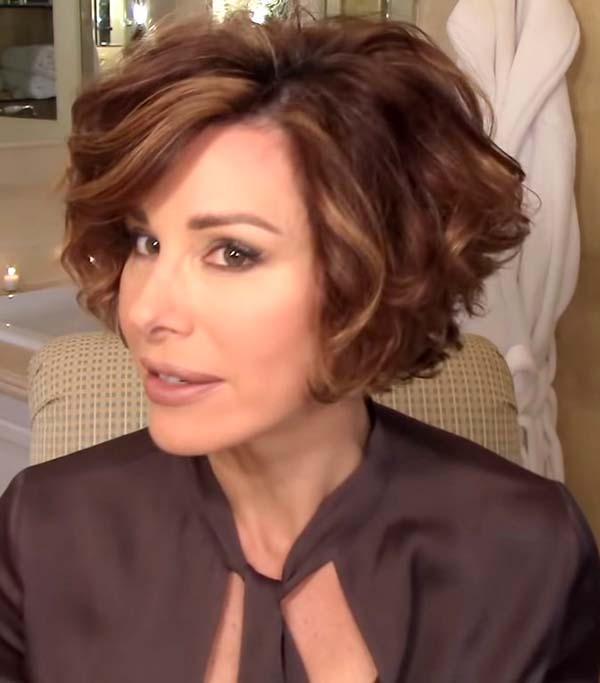 Short Layered Curly Hairstyles for Women over 50