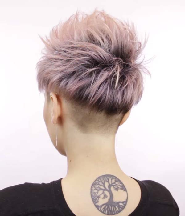Short Spiky Hairstyles for Women Back View