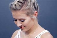 Short Summer Hairstyles for Fine Hair with Braid Updos