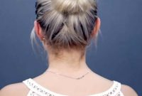 Short Summer Hairstyles for Fine Hair with Braid and Bun