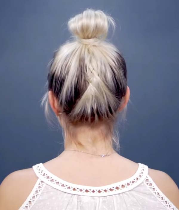 Short Summer Hairstyles for Fine Hair with Bun