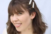 Short Summer Hairstyles with Bangs and Clips