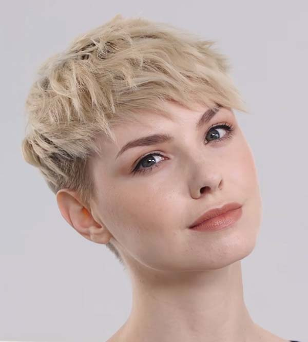 Short Textured Hairstyles with Bangs