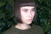 Short hairstyles for Straight Hair with Bangs and Small Faces