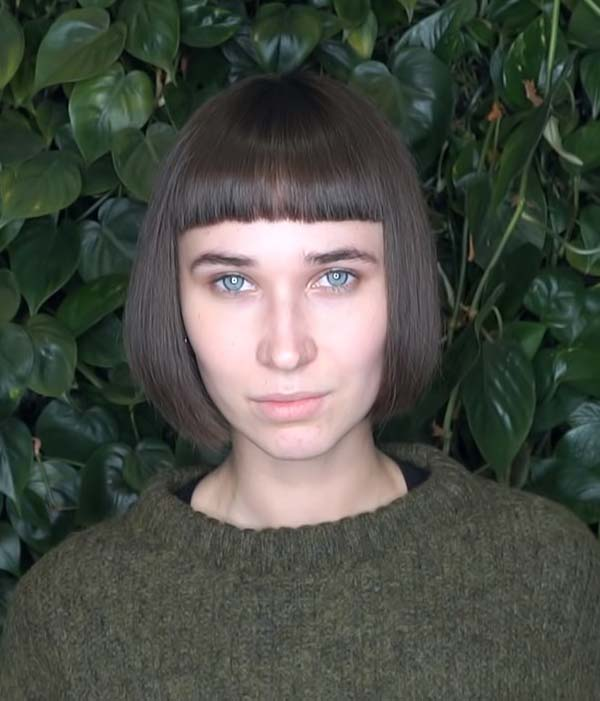 Short hairstyles for Straight Hair with Bangs