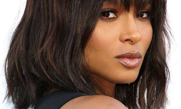 Shoulder Length Bob Hairstyles for Black Women with Bangs