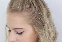Shoulder Length Hairstyles for Women with Bun