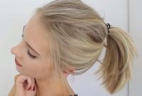 Shoulder Length Hairstyles for Women with Ponytail