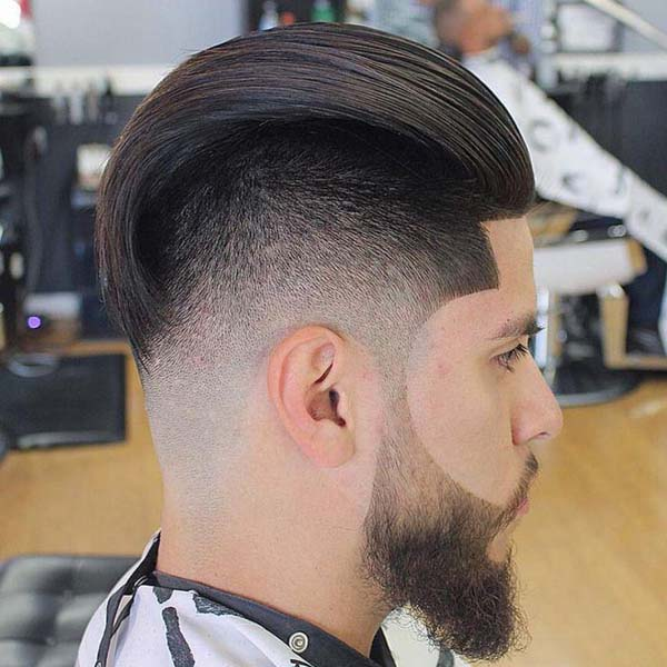 Side Hard Tapered Haircut Back View
