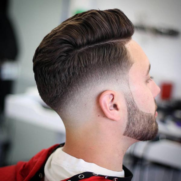 Simple Comb Over Taper Haircut