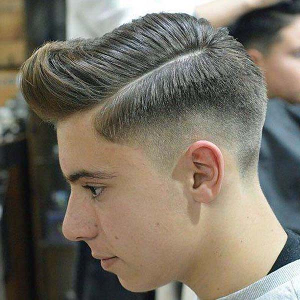 Skin Taper Comb Over Haircut
