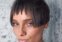 Super Short Hairstyles for Women with Bangs and Square Faces