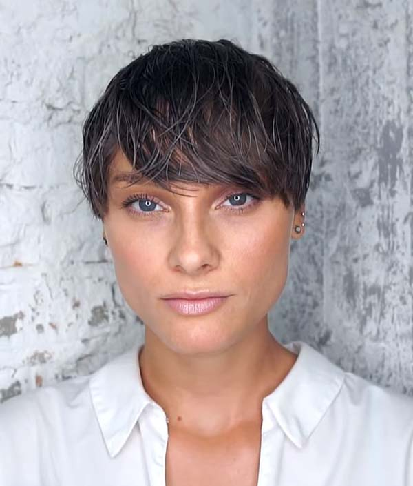 Super Short Hairstyles for Women with Bangs