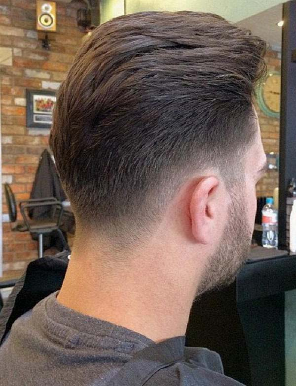 Tapered Haircut Back View for Men