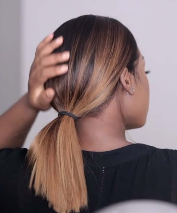 Black And Blonde Hair Color For Black Women With Ponytail
