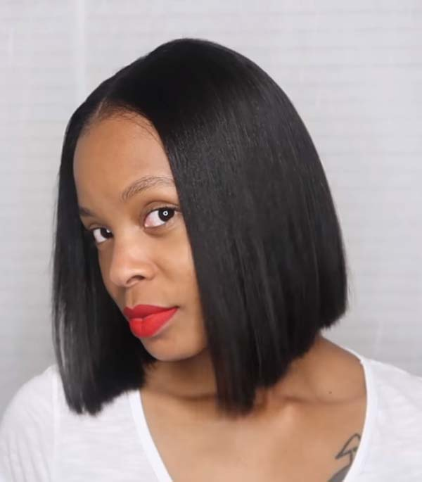 Easy Short Bob Hairstyles for Black Women with Straight Hair