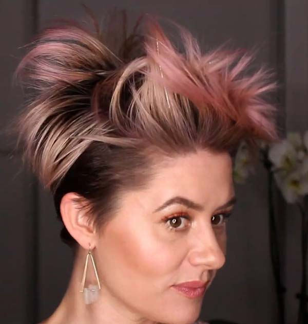 Funky Short Hairstyles For Older Women With Fine Hair