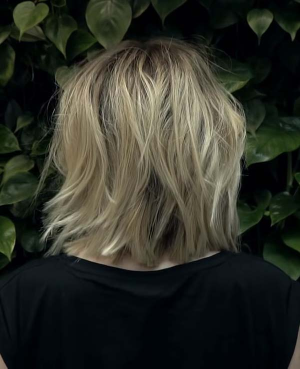 Medium Length Hairstyles with Layers Back View