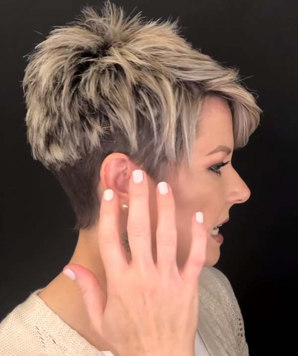 Modern Short Pixie Hairstyles for Women Over 50 Undercut