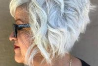 Short Bob Hairstyles for Women Over 50 with Glasses