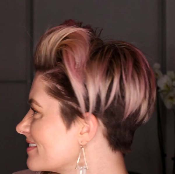 Short Hairstyles For Older Women With Fine Hair Undercut 2020