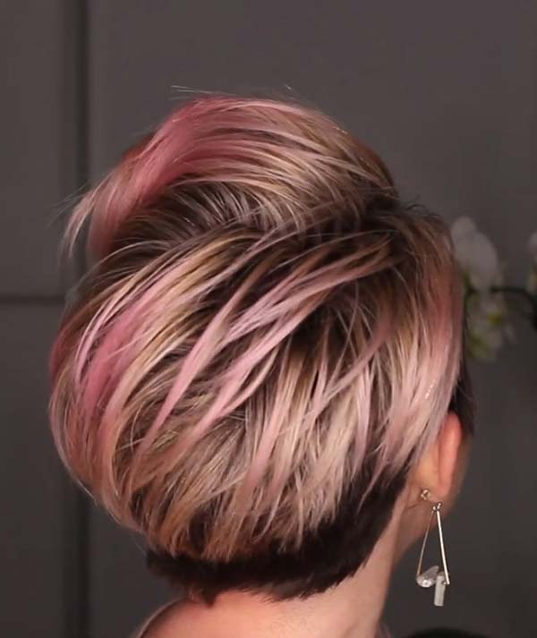 Short Hairstyles For Older Women With Fine Hair Undercut Backview