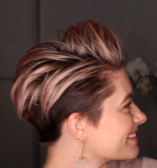 Short Hairstyles For Older Women With Fine Hair Undercut