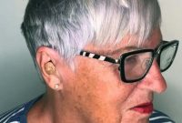 Short Hairstyles for Women Over 50 with Glasses and Bangs