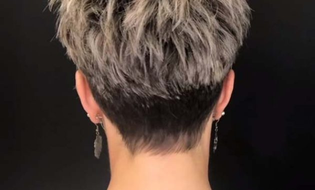 Short Pixie Hairstyles for Women Over 50 Back View