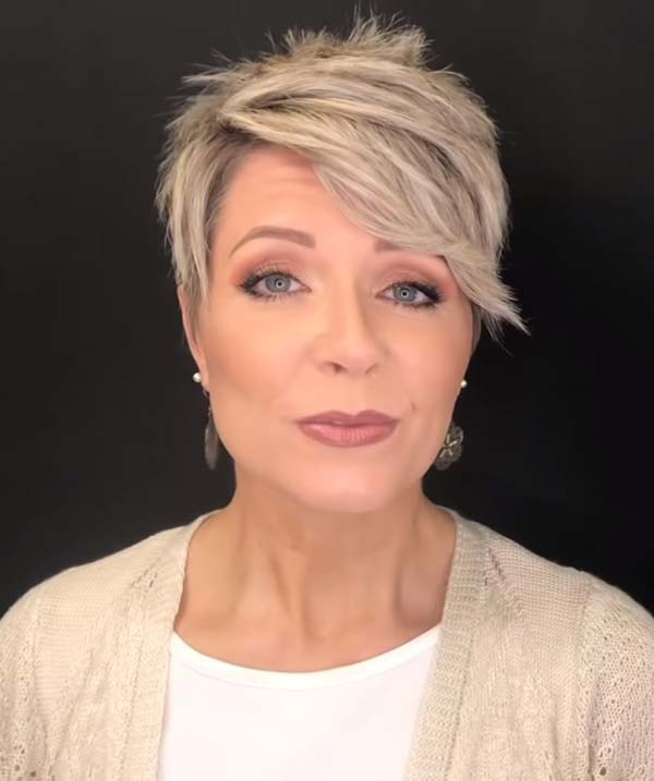 Short Pixie Hairstyles for Women Over 50 Undercut