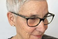 Super Short Hairstyles for Women Over 50 with Glasses