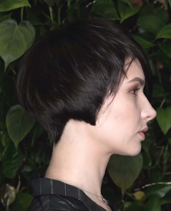 Very Short Bob Black Hairstyles with Fine Hair