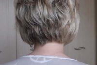 Back View Short Stacked Bob Hairstyles for Women over 40