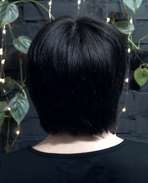 Black Short Bob Hairstyles Back View