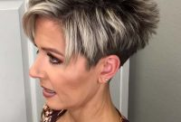 Short Pixie Hairstyles for Older Women with Undercut