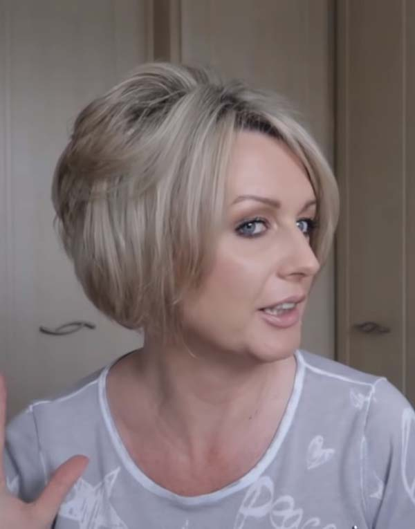 Short Stacked Bob Hairstyles for Women over 40