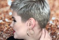 Super Short Hairstyles for Older Women with Side Cut