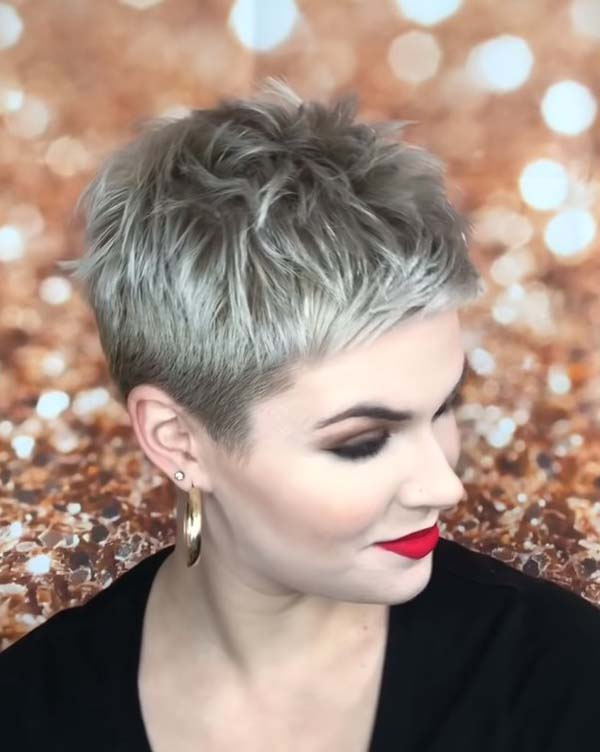 Super Short Pixie Hairstyles for Older Women