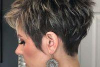Very Short Pixie Hairstyles for Mature Women Undercut