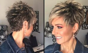 Easy Super Short Pixie Hairstyles for Older Women 2021