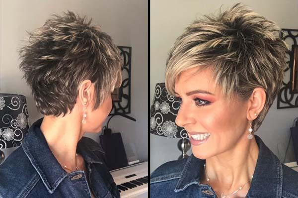 Easy Super Short Pixie Hairstyles for Older Women 2021