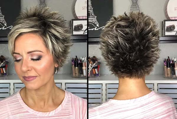 Modern Super Short Pixie Hairstyles for Older Women 2021