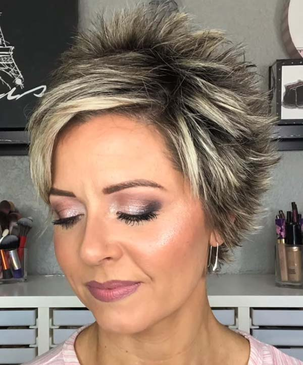 Modern Super Short Pixie Hairstyles for Older Women