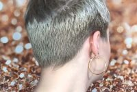 Super Short Hairstyles for Older Women Back View