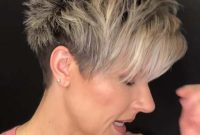 Cute Short Spiky Hairstyles for Mature Women