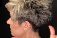 Modern Short Spiky Hairstyles for Mature Women